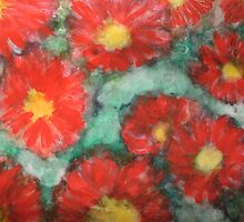 Red Dahlias by George Hunter
