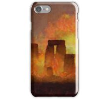 Stonehenge by Sarah Kirk iPhone Case/Skin