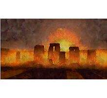Stonehenge by Sarah Kirk Photographic Print