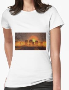 Stonehenge by Sarah Kirk Womens Fitted T-Shirt