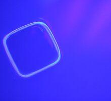 BLUE FILLED BOX by pierce johnson