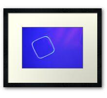 BLUE FILLED BOX Framed Print