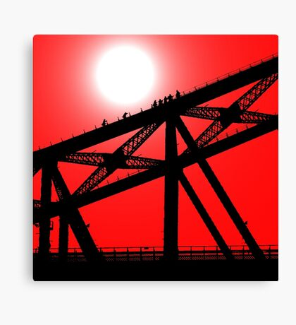 Climbing the Sydney Harbour Bridge Canvas Print