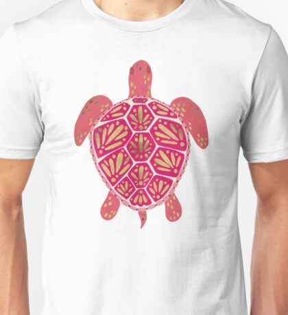 Pink & Gold Sea Turtle Unisex T-Shirt