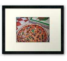 Junk Food (Pizza) Framed Print