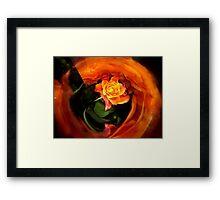 mirror flowers Framed Print