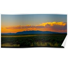 Modoc valley sunset Poster