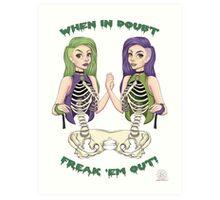 Siamese Skeletons. Art Print