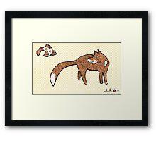 Fox & Bird Print Framed Print