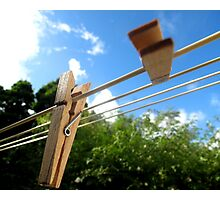 Dancing Pegs Photographic Print