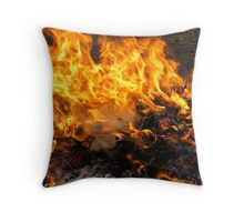 Burning Brush Throw Pillow