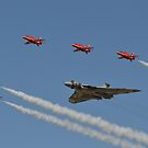 Red Arrows and Vulcan flypast by Andy Jordan