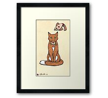 Fox and Bird Two Print Framed Print