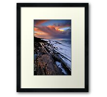 Brickmakers Sunset Framed Print
