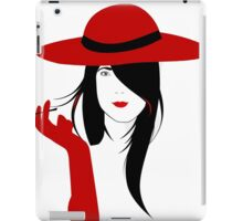 A woman with a cigarette iPad Case/Skin