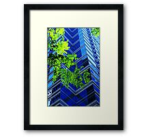 Philly Blue and Green Framed Print