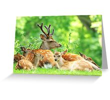 The family outing Greeting Card