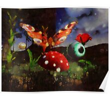 Butterfly Fantasy by Sarah Kirk Poster