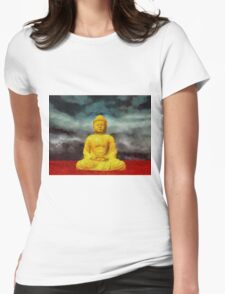 Buddha by Sarah Kirk Womens Fitted T-Shirt