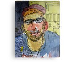 Jesse at the Grumpy Sailor Cafe Metal Print