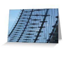 The glass façade Greeting Card
