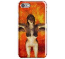 Winged Goddess by Sarah Kirk iPhone Case/Skin