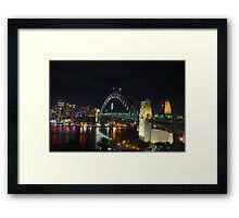 Sydney harbour bridge, NYE 2009/10 Framed Print