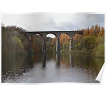 Armsgrove Viaduct On Wayoh Reservoir. Poster