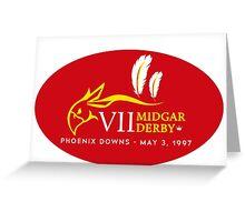 Sticker! Midgar Derby (Oval Version) Greeting Card