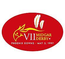 Sticker! Midgar Derby (Oval Version) Photographic Print