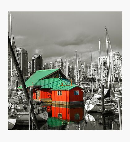 Boat House, Vancouver, BC, Canada Photographic Print