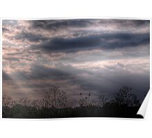 Sunset over Fields - Didcot, Oxfordshire, England Poster