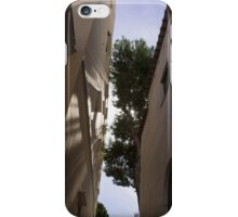 Capri - the Mediterranean Sun Painting Playful Shadows on Facades iPhone Case/Skin