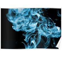 Mysterious Blue Smoke Poster