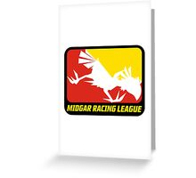 Sticker! Midgar Racing League Greeting Card