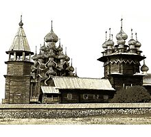 Spruce cathedral, Russia Photographic Print