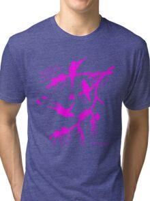 Pink booted rackettail hummingbird Tri-blend T-Shirt