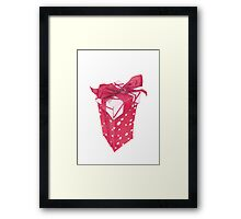 Red Gift Box Framed Print