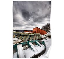 Off Season - Rowboats in the Snow Poster