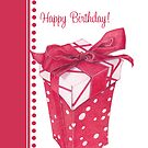 Red Gift Box Happy Birthday by Mariana Musa