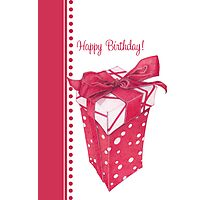 Red Gift Box Happy Birthday Photographic Print
