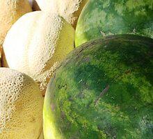 A watermelon cantaloupe by BabyBundtCake