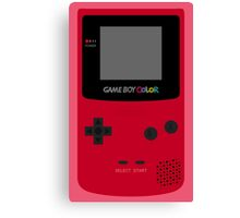 Game Boy Red Canvas Print