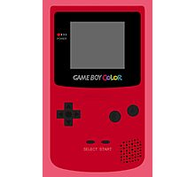 Game Boy Red Photographic Print