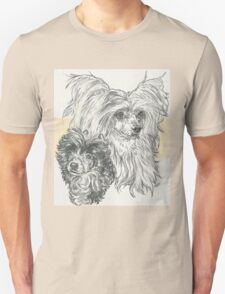 Chinese Crested Powderpuff, Father & Son Unisex T-Shirt