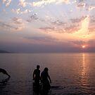 Sunset Swim. by Lolabud