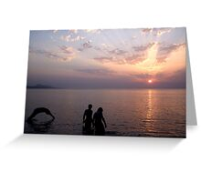 Sunset Swim. Greeting Card