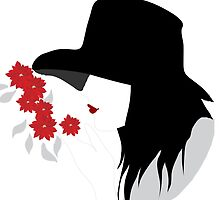 Woman who smelling flowers by Design4uStudio