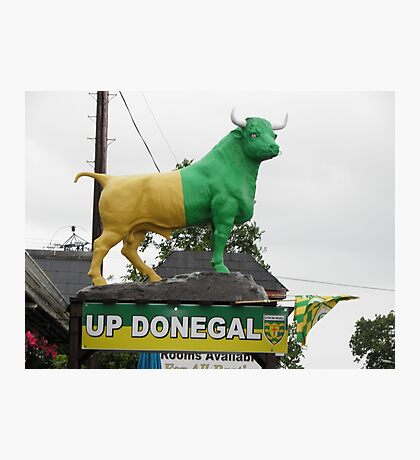 Up Donegal For GAA Finals - Burnfoot County Donegal Ireland . Photographic Print