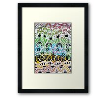Multi Stacked Tangle Framed Print